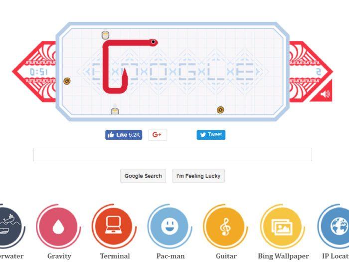Google裏技 snake
