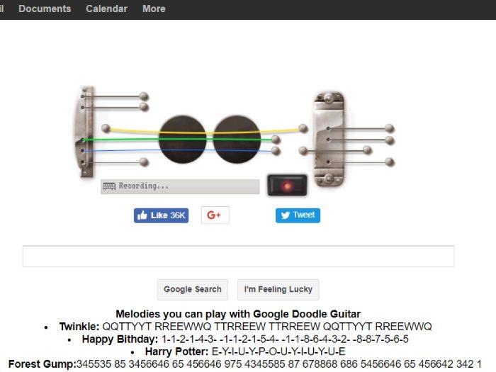 Google裏技 ギター