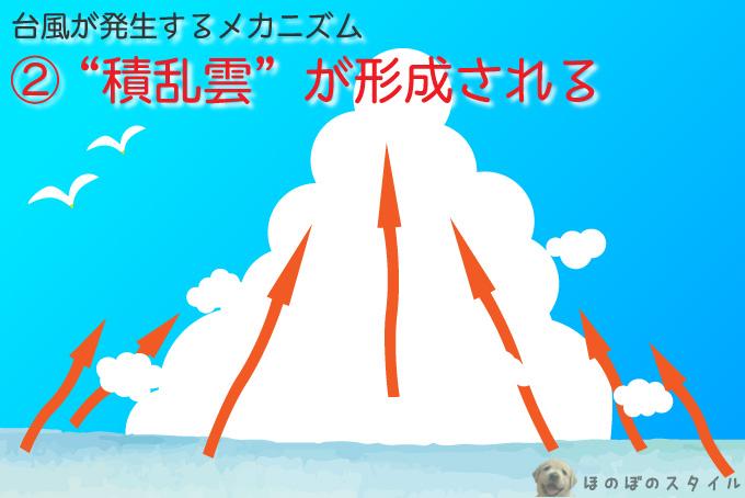 """台風が発生するメカニズム~""""積乱雲""""が形成される"""